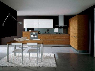 Компоновка и стиль кухонной мебели.