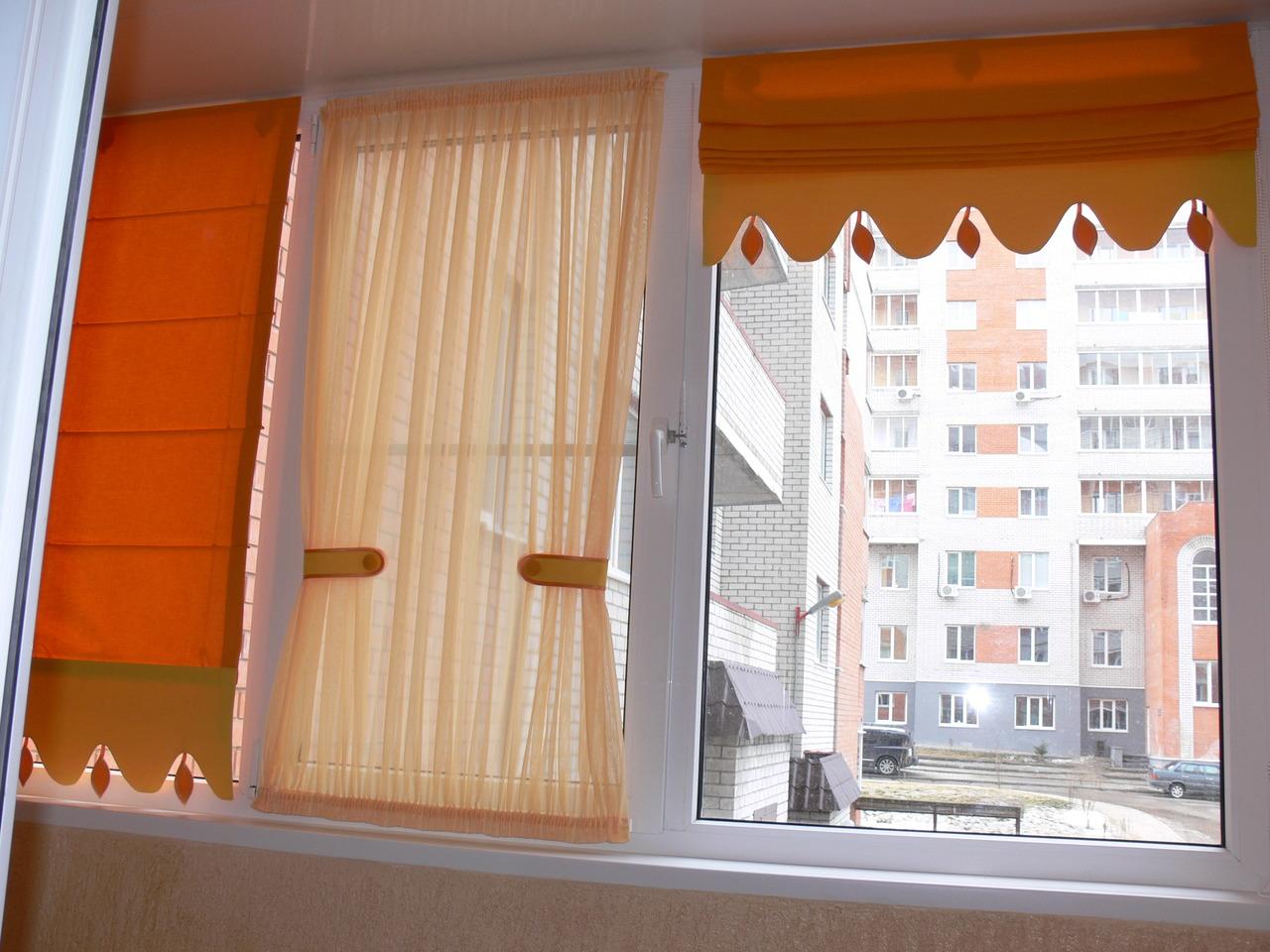 Как сделать шторки на балкон