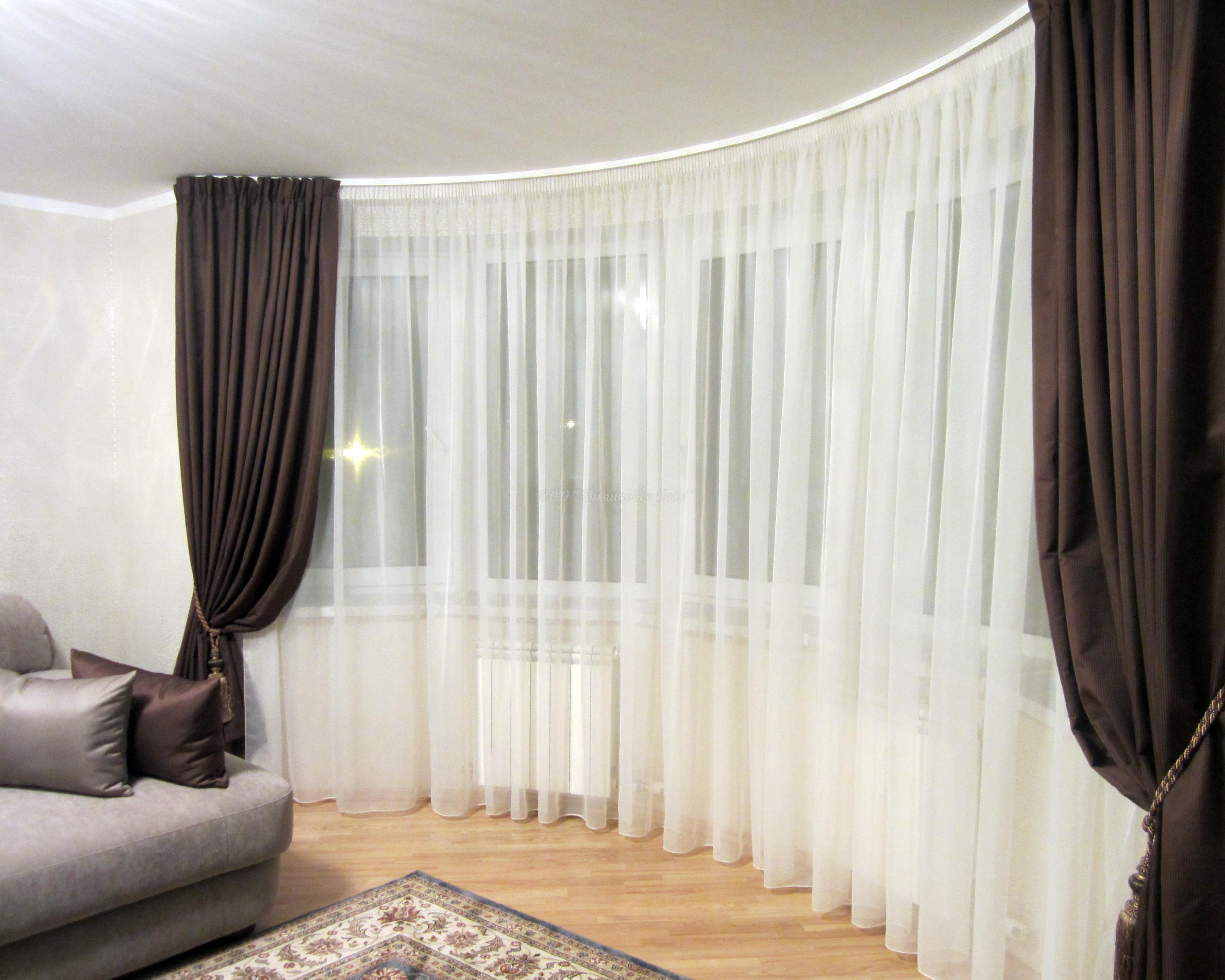 Фото идей тюль и шторы 56