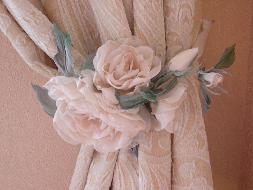 Цветы из ткани своими руками для штор  669