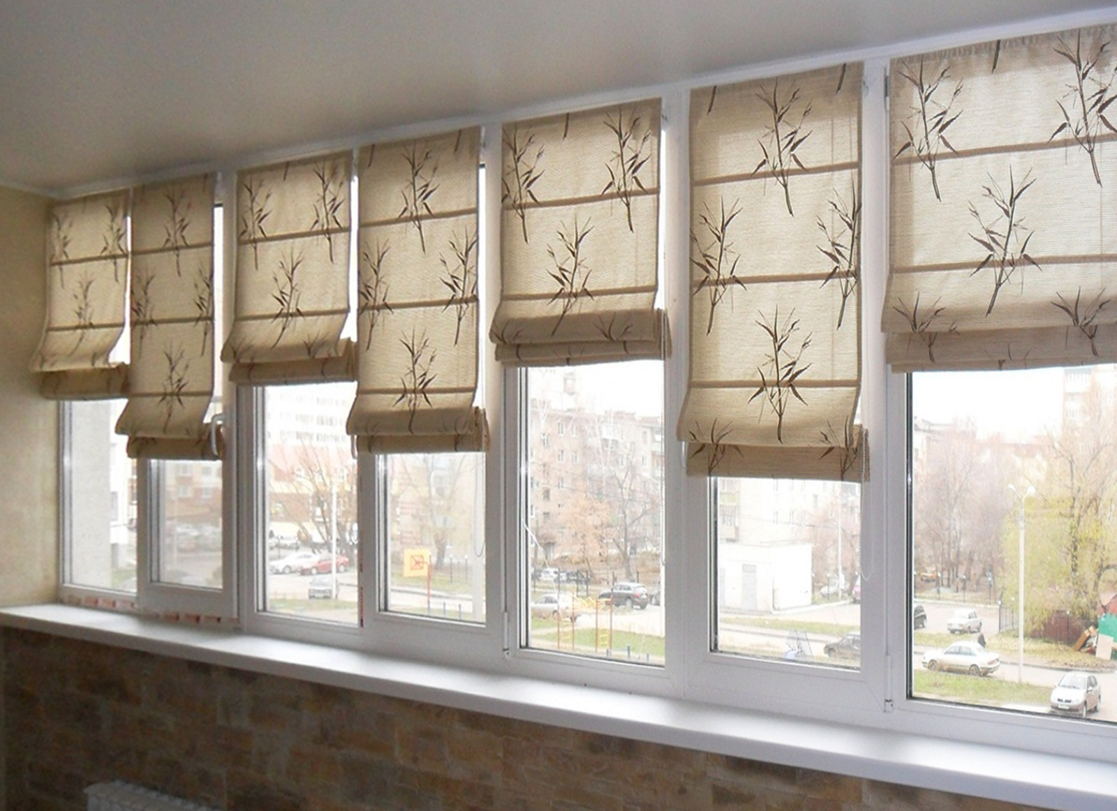 рулонные шторы фото на лоджию