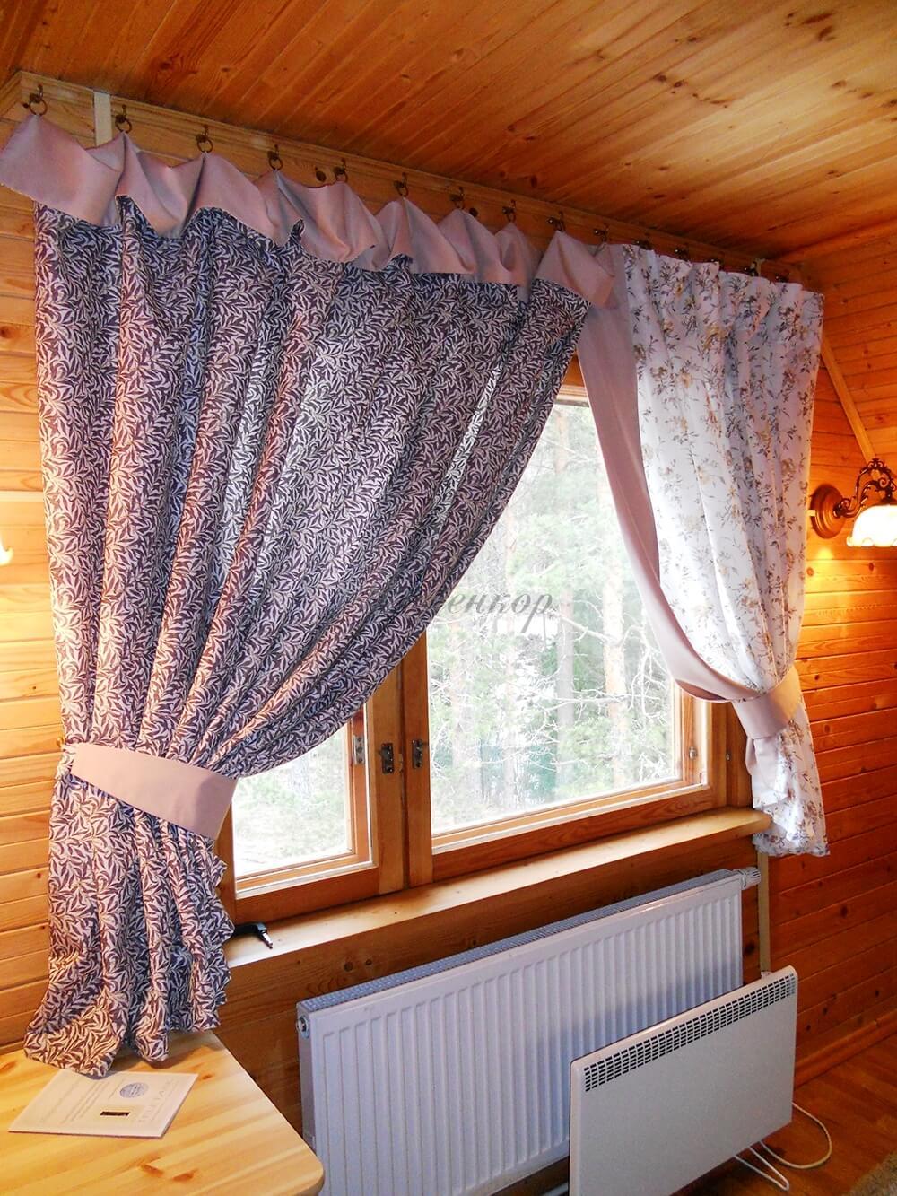 Красивые шторы на дачу своими руками