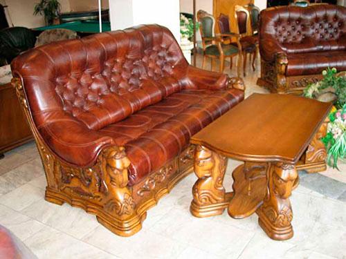 Элитная кожаная мебель ручной работы