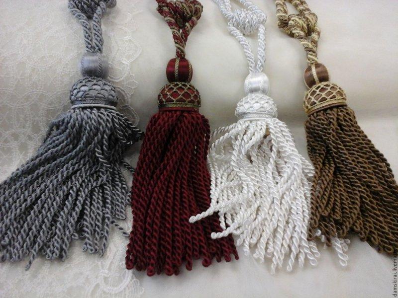 Подвязки для штор своими руками
