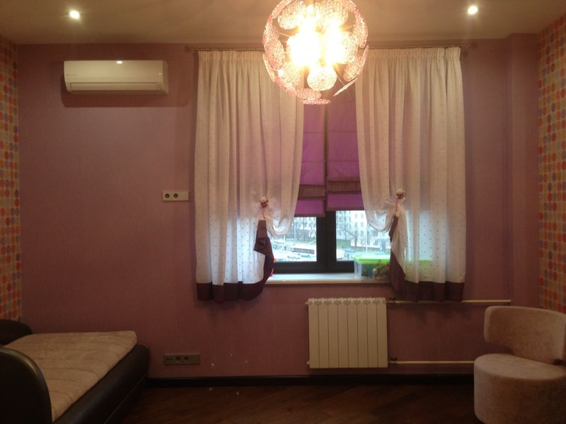 короткие шторы для спальни фото