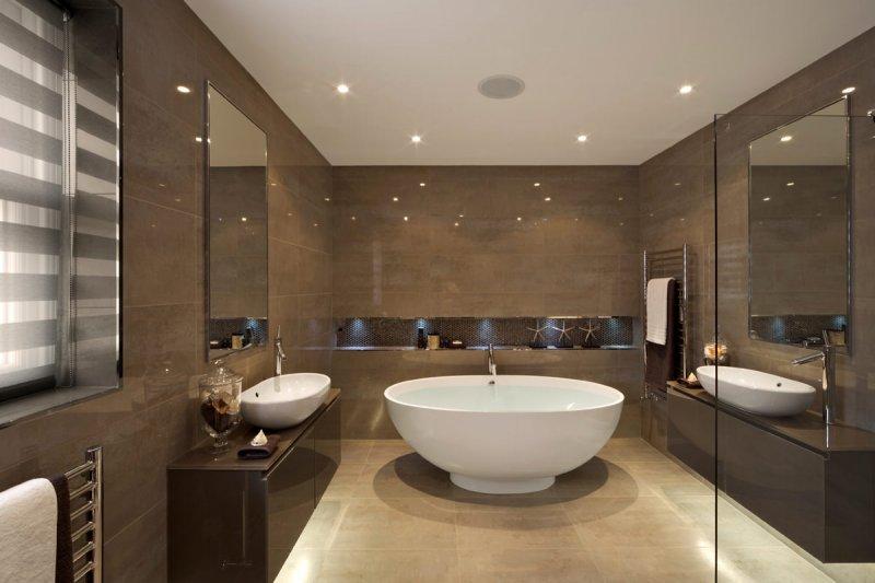Цветовые акценты в интерьере ванной